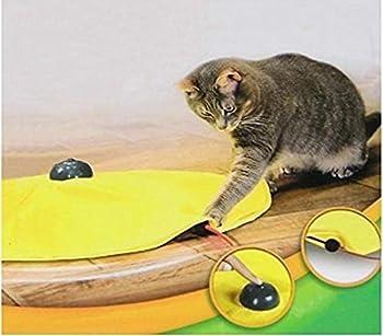 4 vitesses Jouet pour chat Meow électronique interactive de Undercover Souris Tissu chat chaton Pet Jouer W/jaune pour homme