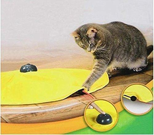 4 Geschwindigkeiten Katzenspielzeug Undercover Maus Stoff Cat 's Meow Interaktive Elektronische Kätzchen Pet Play W/gelb Shirt