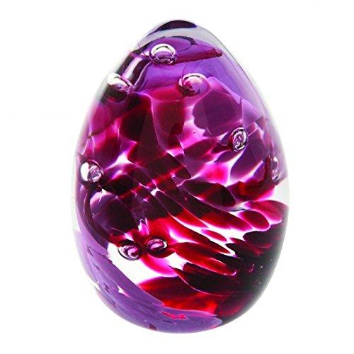 """Caithness-Fermacarte in vetro, motivo: """"Gala, colore viola, multicolore"""
