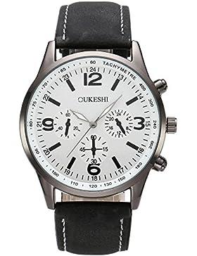 JSDDE Uhren,Herren Armbanduhr Lässig Analog Quarzuhr unecht Chronograph Wasserdichte Luxus Geschäft Männer Kleid...