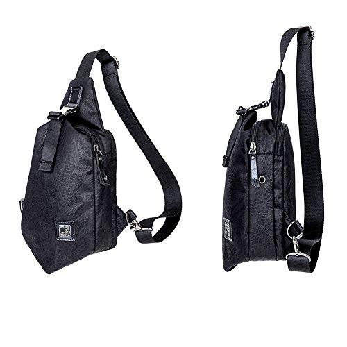 Arctic Hunter Sling Bag Mens Petto Spalla Crossbody Bag Zaino Trekking Sport Della Bicicletta Zaino Scuola Daypacks Nero