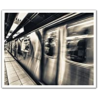 JP London POS2400 uStrip Peel and Stick Removable Wall Decal Sticker Mural Subway Blast Metal Underground, 24-Inch by 19.75-Inch