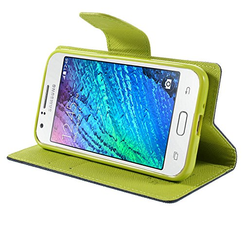 Mercury synthetic leather Wallet Magnet Design Flip Case Cover for Coolpad Note 3- Blue Green