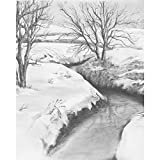 Royal & Langnickel 22,9x 27,9cm Malen nach Zahlen, Motiv: Winterlicher Bach, vorgedruckt, Zeichenset