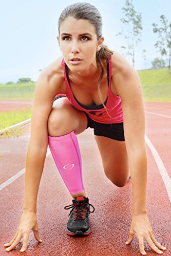 Calf Compression Sleeves – Compression Leg Sleeves (1 Pair) / Calf Guards for Running, Cycling, Basketball & CrossFit – Premium Compression Support Stockings for Women and Men – Pink Small