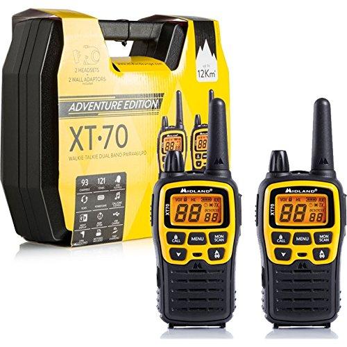 Midland XT70 Adventure 93channels 433.075 - 446.09375MHz Negro, Amarillo two-way radios - Walkie-Talkie