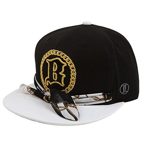 Mode Baumwolle Hiphop Style Baseball Cap Verstellbar, Einstellbar, Schwarz (Newsboy Wildleder Hut)