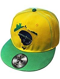 Brésil Méga Pack - Casquette De Baseball, Porte-Clés et 2 x Silicone Braclets (Brazil Snapback, Keyring & 2 x Wristbands)