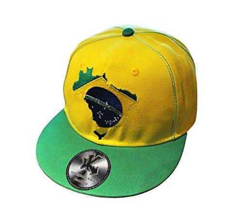 Brésil Pays Jaune Casquette De Baseball Réglable (Brazil Snapback)