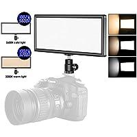 Neewer Super Fino Bi-Color Regulable Luz de Video LED con Pantalla LCD - Panel de LED de Cámara Ultra Alta Potencia, 3200K-5500K para Cámara Estudio Retrato Fotografía de Video(Batería NO Incluida)