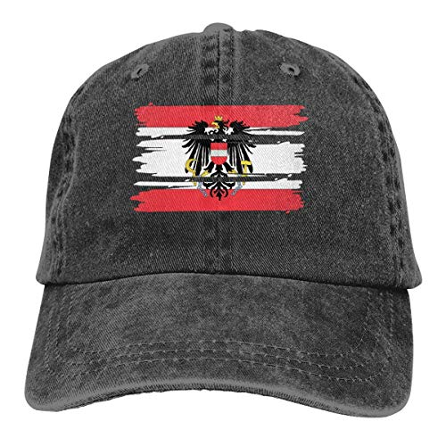 j65rwjtrhtr Men Women Adjustable Cotton Denim Baseball Kappen Flag of Austria Dad Kappen