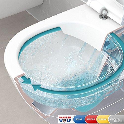 Villeroy & Boch O.Novo Wand WC Directflush ohne Spülrand *kein WC Sitz* Ceramicplus