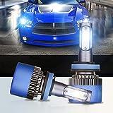 H11 (H8 H9) Auto LED Scheinwerfer Birne, 72W LED Licht mit Auto COB Chips 8000 Lumen 6000 K kühles weiß adjustable-beam Leuchtmittel IP68 Wasserdicht All-In-One Conversion Kit – 2 Jahre Garantie