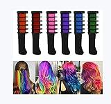 Ai LIFE 6 Farben Temporärer Haarkreidekamm Ungiftig waschbar haarfarbe kamm für nasses und trockenes Haar Temporäre Haarfärbung für Kinder