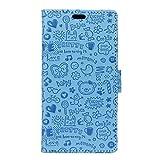 SZHTSWU® Hülle für Alcatel Onetouch Pixi 4 (5,0 Zoll) 5010D (3G), Magnetverschluss Niedlich Cartoon Muster PU Leder Tasche Schutzhülle Flip Wallet Handytasche, Blau