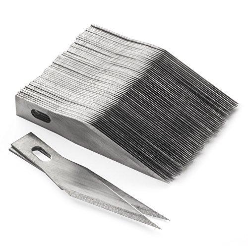 100 Stück Washati® Ersatz Bastelmesser Klingen Hobbymesser Skalpell #11