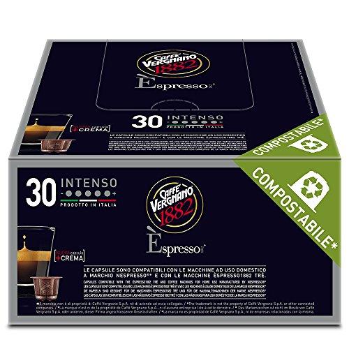 Caffè Vergnano 1882 Èspresso Capsule Caffè Compatibili Nespresso, Intenso - 8 confezioni da 30 capsule (totale 240)