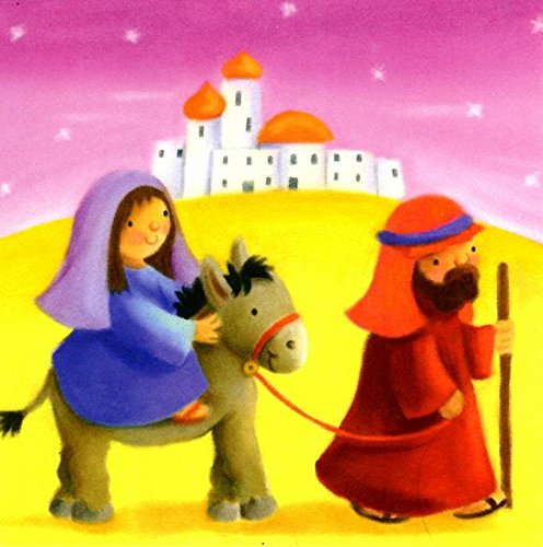 Pack of 16 Mini Mary & Joseph Christmas Cards Xmas Card Cello Packs