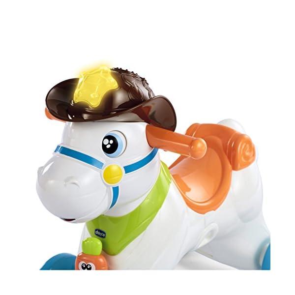 Cavallo A Dondolo Chicco Rosa.Chicco Baby Rodeo Cavallo A Dondolo Gioco Interattivo Cavalcabile Adatto Da 1 Anno 30 X 58 X 64 Cm