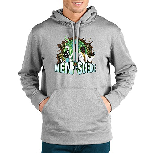 Planet Nerd - Men of Science - Herren Kapuzenpullover, Größe S, grau ()