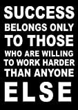 Inspirational Motivational Quote Sign Poster Print Picture(SUCCESS BELONGS ONLY TO THOSE) SPORTS,LIFE,BOXING, CYCLING, ATHLETICS, BODYBUILDING, TRIATHLON,BASKETBALL, FOOTBALL, RUGBY, SWIMMING, MARTIAL ARTS ETC ETC