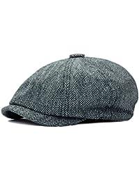 616a19998ac HowYouth Mens Classic Vintage Newsboy 8 Panel Herringbone Tweed Flat Cap  Gatsby Baker Boy Hat Unisex