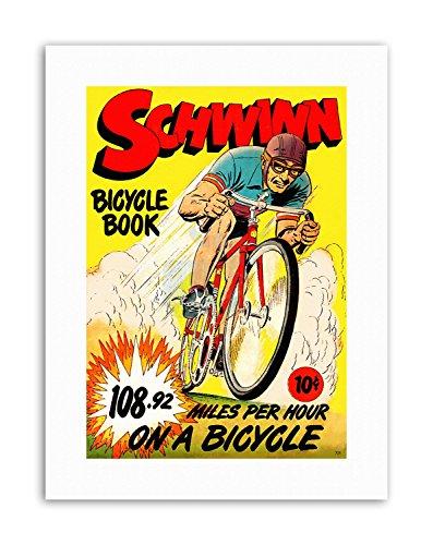 Wee Blue Coo LTD Schwinn Bicycle Book Speed Record Bike Race USA Poster Comics Canvas Art Prints Speed Records