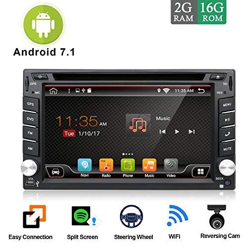 2 Din Autoradio Android 7.1 Universal Radio Estereo Navegación |GRATIS Cámara trasera...