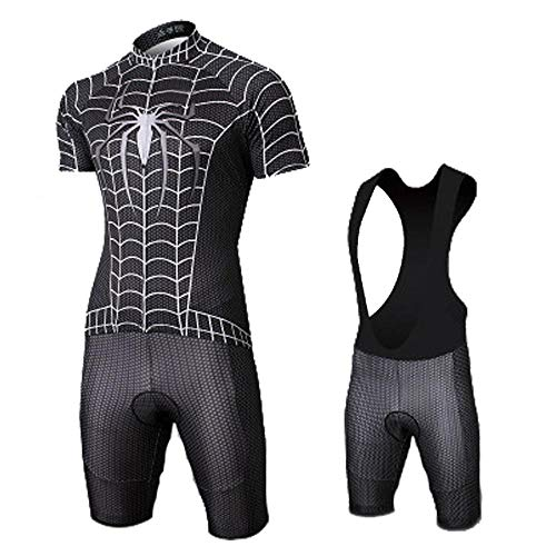 JERSEY Summer Marvel Avengers Spiderman Herren Radtrikot Combo Set Race Trägerhose Radsport 2-L