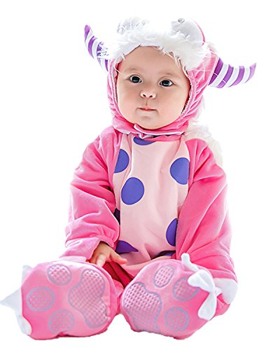 Weihnachten Halloween Langarm Outfits Jumpsuit Playsuit Strampler Winteroverall Monster 0-6Monate (Baby Monster Kostüm 0 6 Monate)