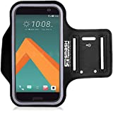 Smash Terminator® Sports Running Jogging Gym Exercise Running Armband Arm Band Case Cover Holder For Mobile Phone Device. Made from Premium Neoprene Lycra, Sweatproof Layer, Reflective Strip and Key Slot by AllThingsAccessory® (As Seen in Runners World Magazine - 5 Stars)