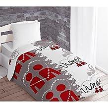 couette imprim e 1 personne. Black Bedroom Furniture Sets. Home Design Ideas
