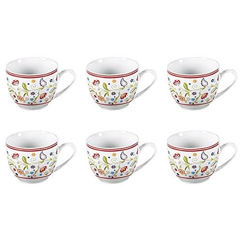 Flirt by R&B 018790 \'Doppio Shanti\' Espresso-Obere mit Paisley-Muster, 80 ml, Porzellan (6er Pack)