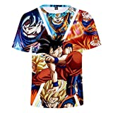 ZZBM Enfant Garçon T-Shirts à Manches Courtes 3D Dragon Ball Animé Goku Imprimée...
