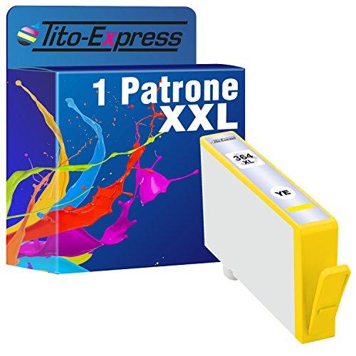 Tito-Express PlatinumSerie 1 Tinten-Patrone XXL mit Chip kompatibel mit HP 364 Gelb e-All-in-One 5510 5514 5515 5520 5522 5524 5525 6510 6520 6525 7510 7520