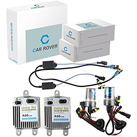 Car Rover® H1 55W Canbus No Error HID kit de conversión del xenón Fast Start con 3 Segundo 80% completa Light Up 5000K