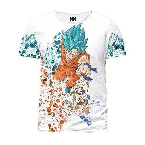 SUPER SAYAN BLUE - Dragon Ball T-Shirt Man Uomo - Xenoverse, Anime Manga Cartoon Cartone Animato, Super Sayan Goku Vegeta Freezer Videogioco