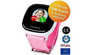 XPLORA 1 - Telefonuhr (Rosa) für Kinder, inklusive 12 Monate Telefonie, Internet und XPLORA-Dienste (NUR FÜR KUNDEN IN Deutschland)