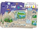 6 Platzsets * WELTRAUM * zum Ausmalen für Kindergeburtstag // Geburtstag Kinder Party Alien Kinderparty Ufo Space Weltall All Platz Set