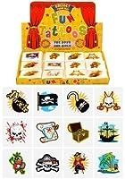 6 packs de 12 tatuajes estilo pirata temporales para niño o niña para cotillón piñata 72 en total de Home Fusion Company
