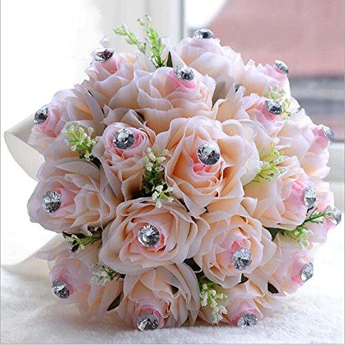 Europäischen Stil Stoff Handmand Bouquet Trompete Hochzeitsgeschenk Braut Brautjungfer halten Blumen