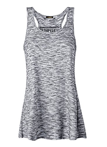 JL&LJ Damen Tank Top Sommer Sports Shirts Oberteile Frauen Baumwolle Lose Ärmellos for Yoga Jogging Laufen Workout-Ga-XL