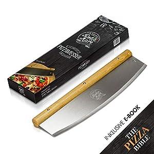 DOLCE MARE® Pizzaschneider - Vielseitig einsetzbares Wiegemesser mit edlem...