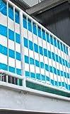 Sichtschutz blau 500x90 cm (2,22 EUR / 1m²)