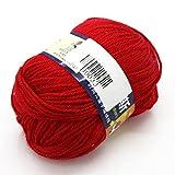 joyliveCY Joystore Baby Handwerk Garn Kammgarn Pullover Weiche Wolle Cashmere Strick 50g Vermilion