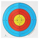 Kcopo Zielscheiben Papier Bogenschießen Zielpapier Schießen Zielpapier 45CM Zielpapier Halber Ring Zielpapier Für Bogenschießen Sport Training 5 Blätter