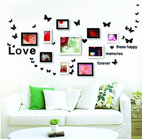 ufengke® creativo danza farfalla foto adesivi murali, camera da ... - Adesivi Murali Per Camera Da Letto
