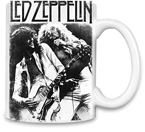 Led Zeppelin auf der Bühne On Stage Unique Coffee Mug   11Oz Ceramic Cup  The Best Way to Surprise Everyone On Your Special Day  Custom Mugs by (Led Zeppelin Kaffeetasse)