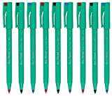 Pentel R50 Tintenroller, Farblich Sortiert, Ball Pen Kugelschreiber, Feine Spitze, Gepolstert, Spitze 0,8 mm, Strichbreite 0,4 mm, Breite: 77% Recycelt (Je Farbe 3 Kugeln), Schwarz/Blau/Rot, 9 Stück)