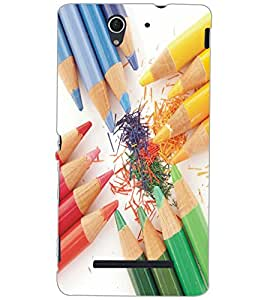 SONY XPERIA C3 PENCILS Back Cover by PRINTSWAG